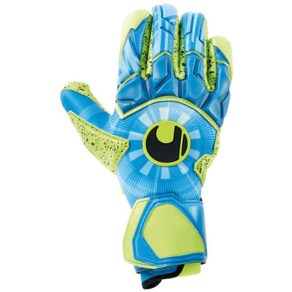 Uhlsport.radar.control.absolutgrip.keepershandschoenen.geel.blauw.