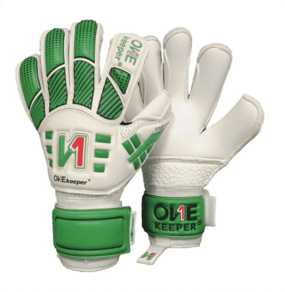 onekeeper.keepershandschoenen.groen.wit.